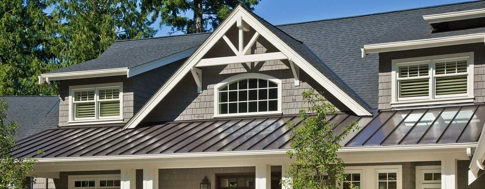 Shingle Roof with Metal Porch Roof