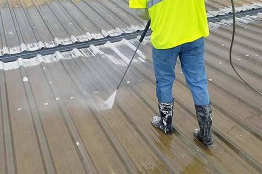 Roof Restoration Surface Prep For Metal