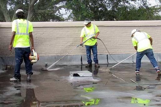 Roof Restoration Surface Prep Work